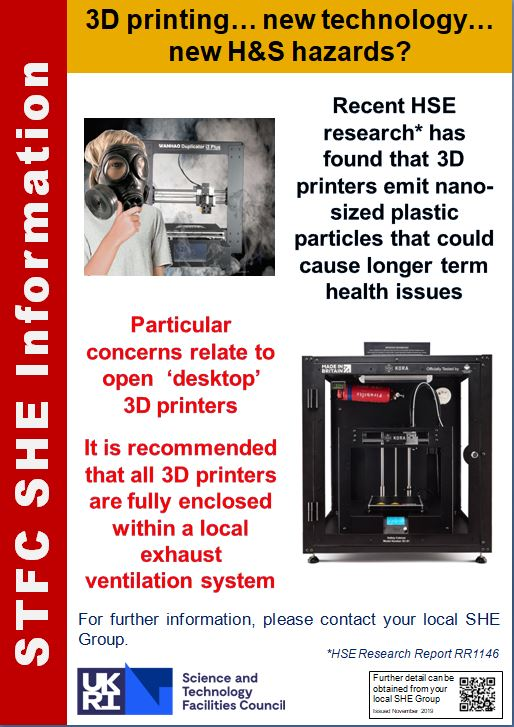 Science & Technology Recognise 3D Printing hazards