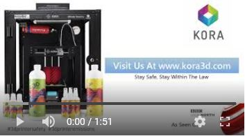 Kora Safety Enclosure Demonstration Printing With PLA